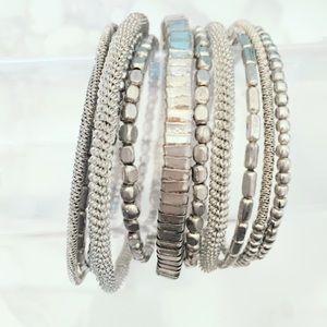 Jewelry - Silver Tone Coil Wrap Bracelet